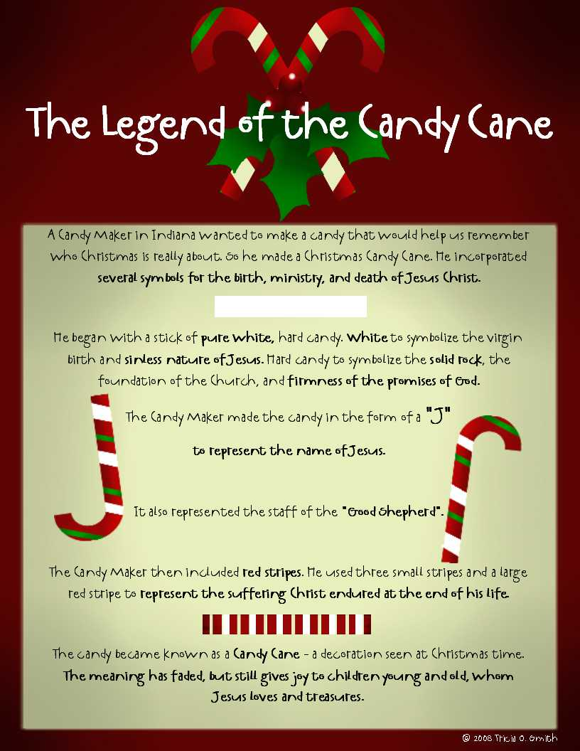 the legend of the candy cane - Hard Candy Christmas Meaning