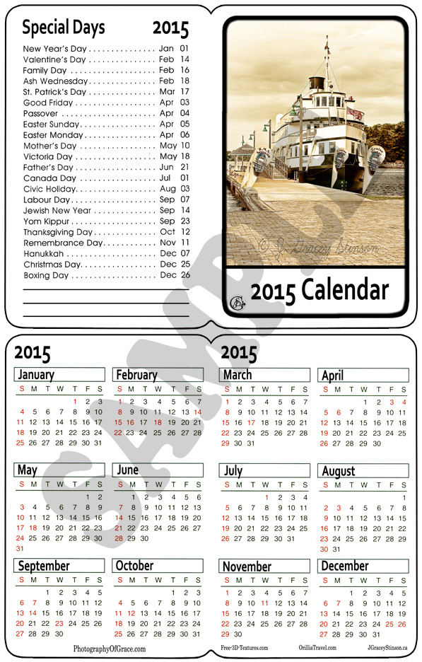 A printable folding pocket calendar in .png format.