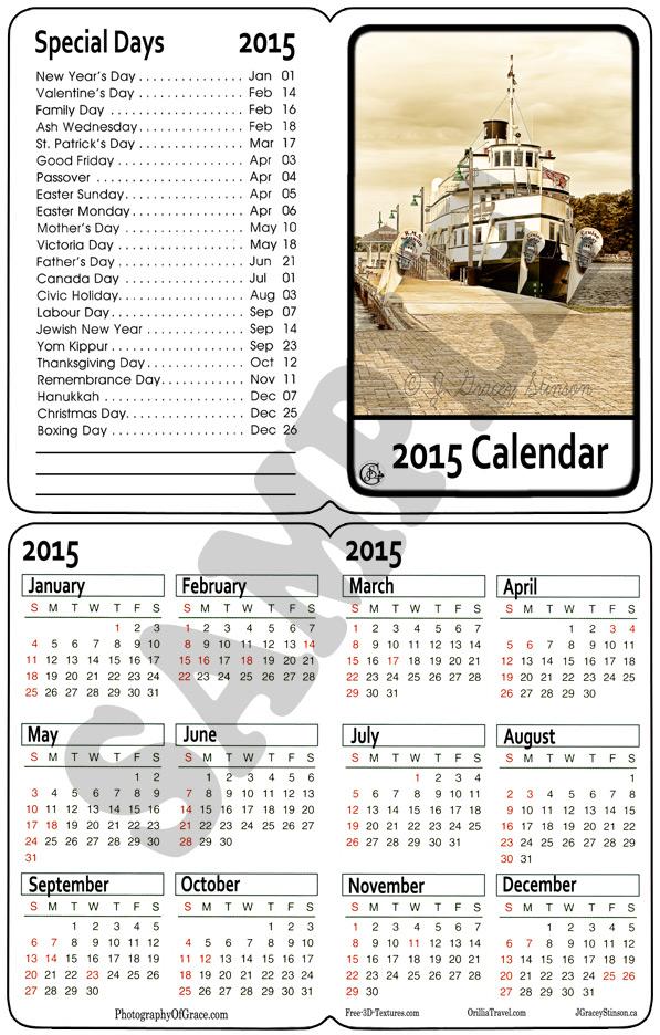 A printable folding pocket calendar in .png format.