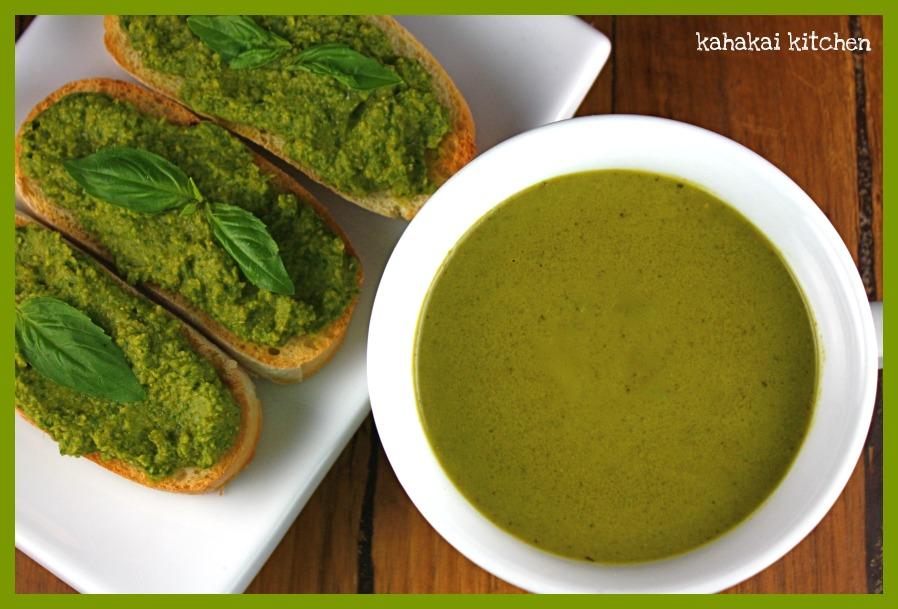 Kahakai Kitchen: Creamy Greens Soup with Chickpea & Spinach-Artichoke ...
