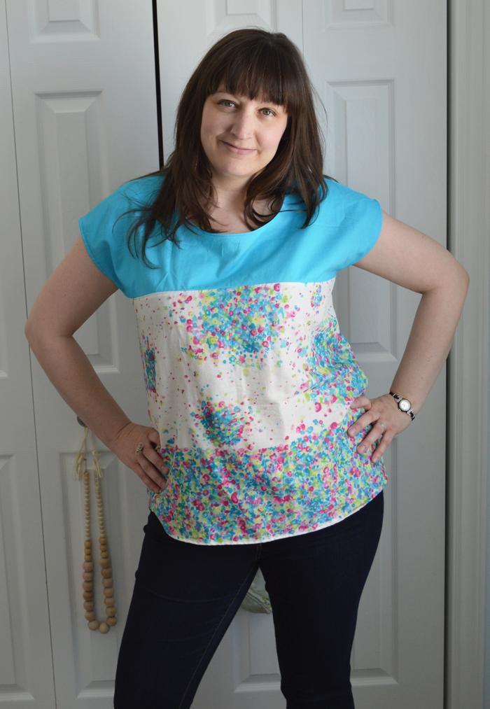 Nani Iro Fuwari fabric Zippy Top sewn by Cicely Ingleside