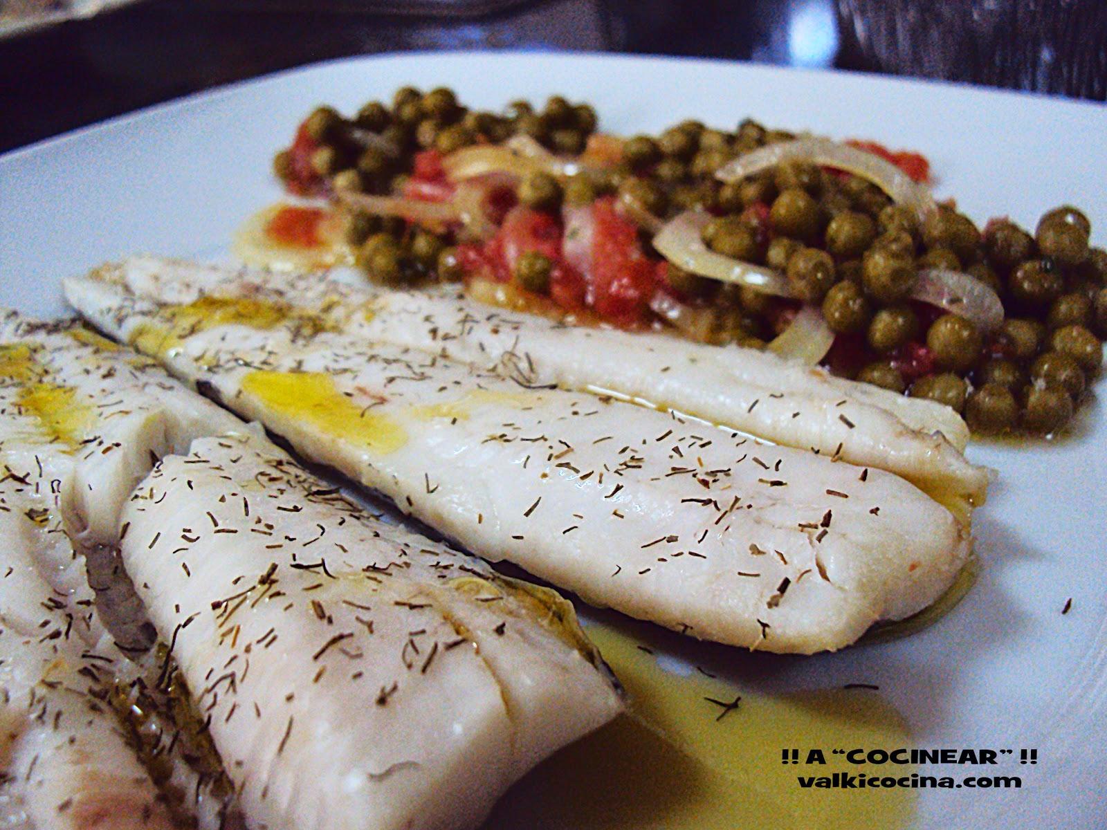 Merluza con guisantes al microondas a cocinear recetas - Cocinar pescado en microondas ...