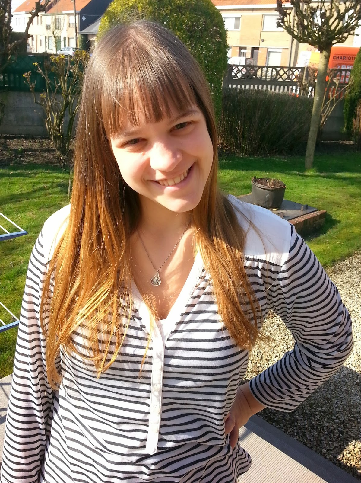 Clothes & Dreams: OOTD: The return of the sun + my haircut: bangs and ombre :D