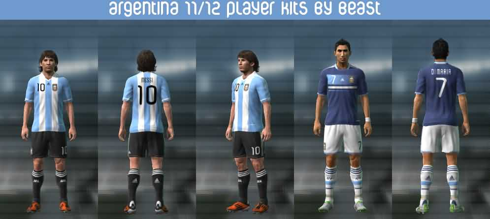 Argentina 11 12 Player Kits By BeasT