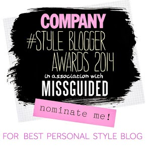 Nominate Through Chelsea's Eyes as 'Best Personal Style Blog'