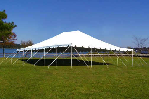 Push Pole Wedding Tent