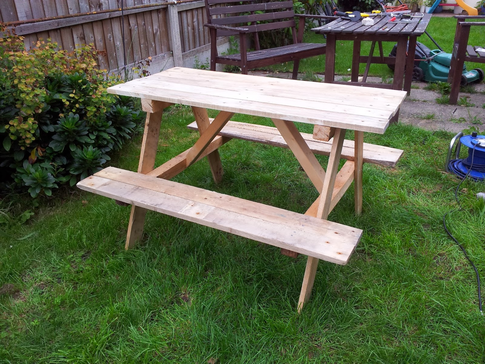 have seen loads of projects on Pintrest of things to do with pallet ...