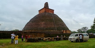 The massive dome of Jetavanarama Dagaba, Anuradhapura, Sri Lanka