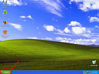 Learn how to disable show or don't show hidden files and folders in windowsXP step1