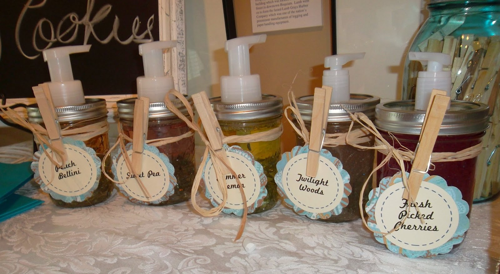 diy door prize ball jar soap dispensers