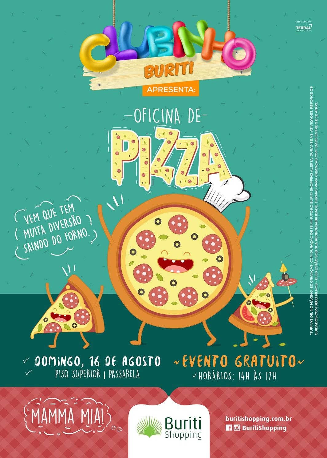 Revista estreia clubinho buriti apresenta oficina de pizza for Horario oficinas correos agosto