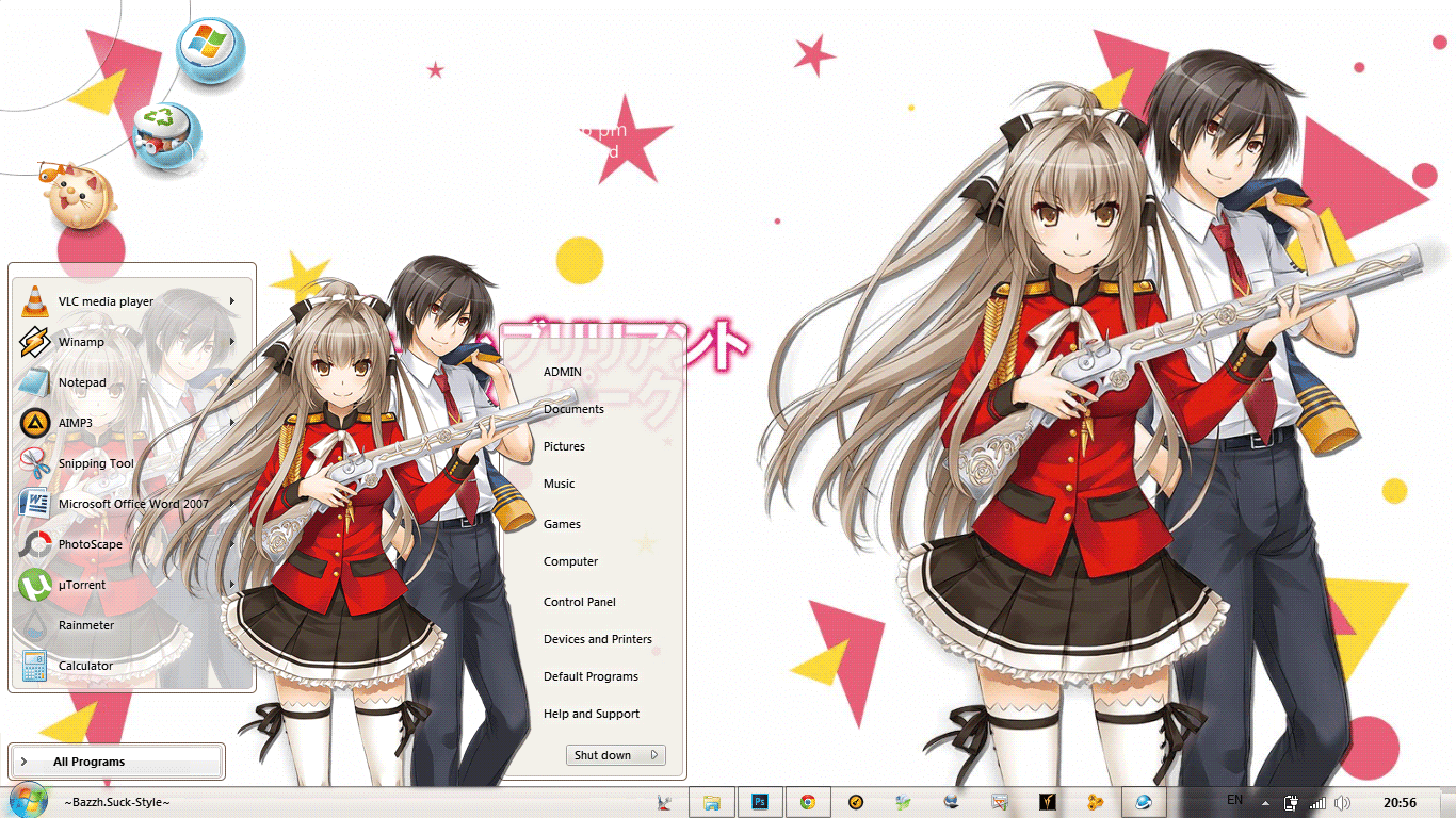 [Theme Win 7] Amagi Brilliant Park By Bashkara