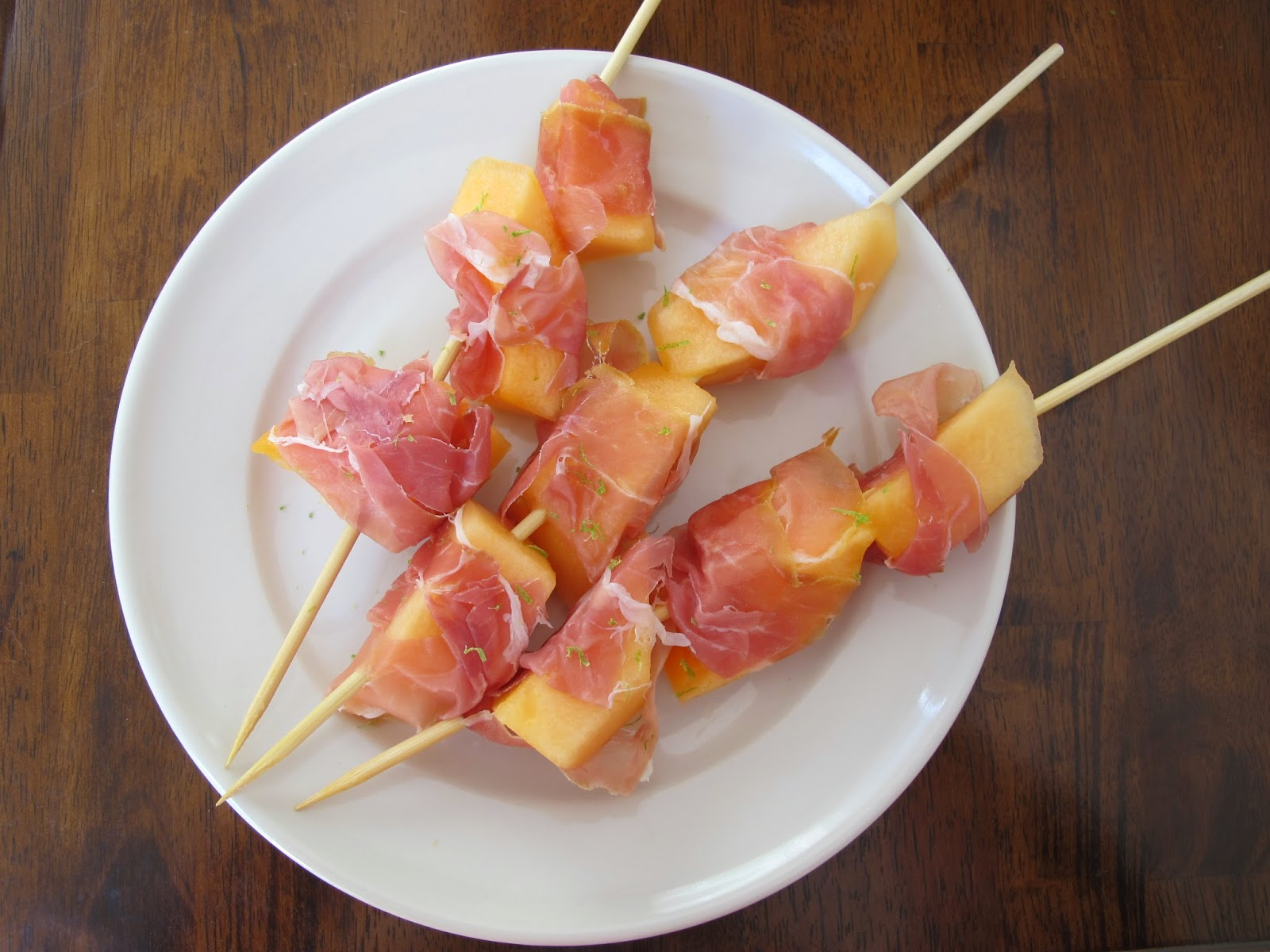 Prosciutto and Melon Kabobs