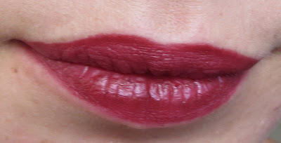 Jordana Plush Plum Easyliner - lip swatch