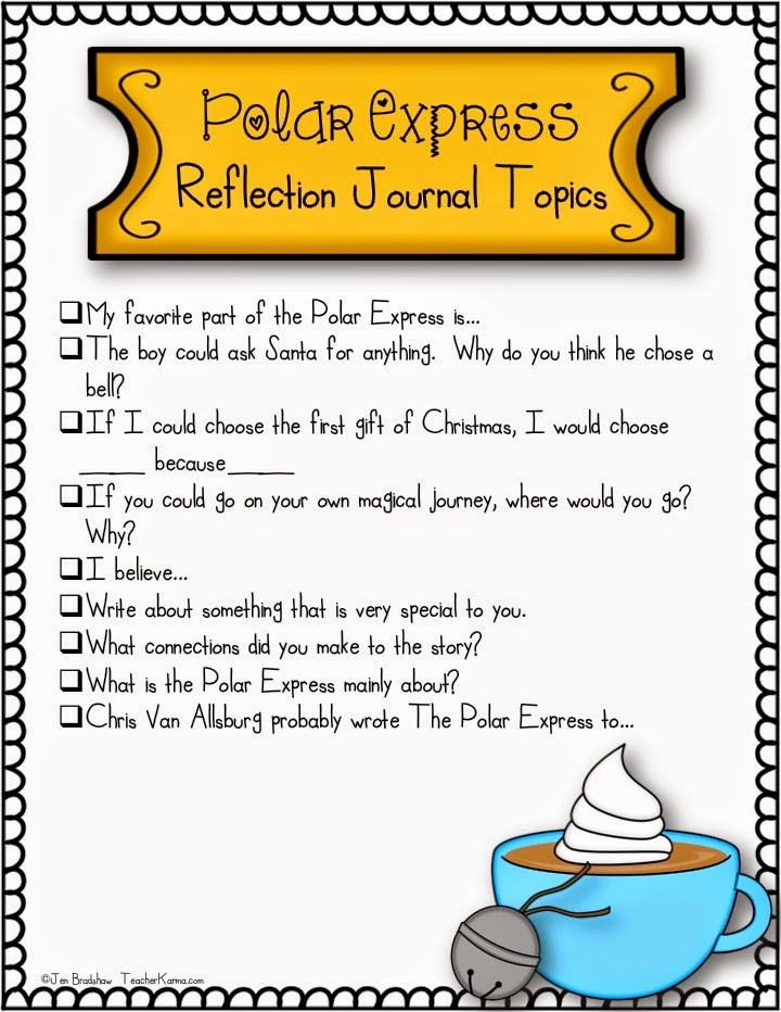 FREE  Polar Express journal topics and writing paper.  TeacherKarma.com