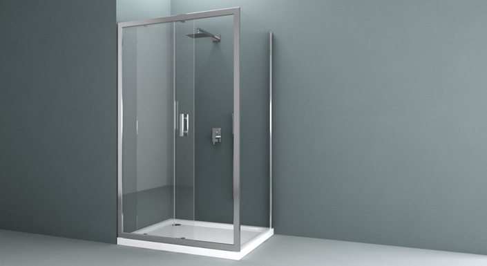 Cabine de douche meubles de salle de bain - Roulement porte de douche coulissante ...