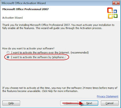 ms office professional 2007 activation code
