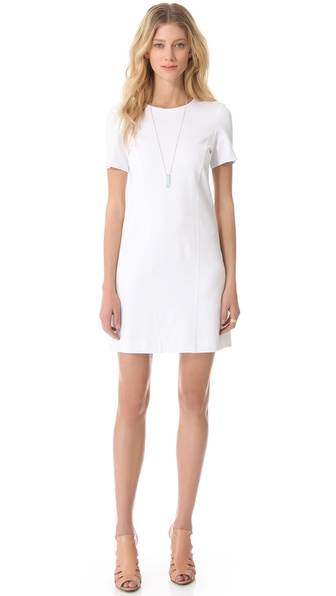 Ponte Short Sleeve A Line Dress