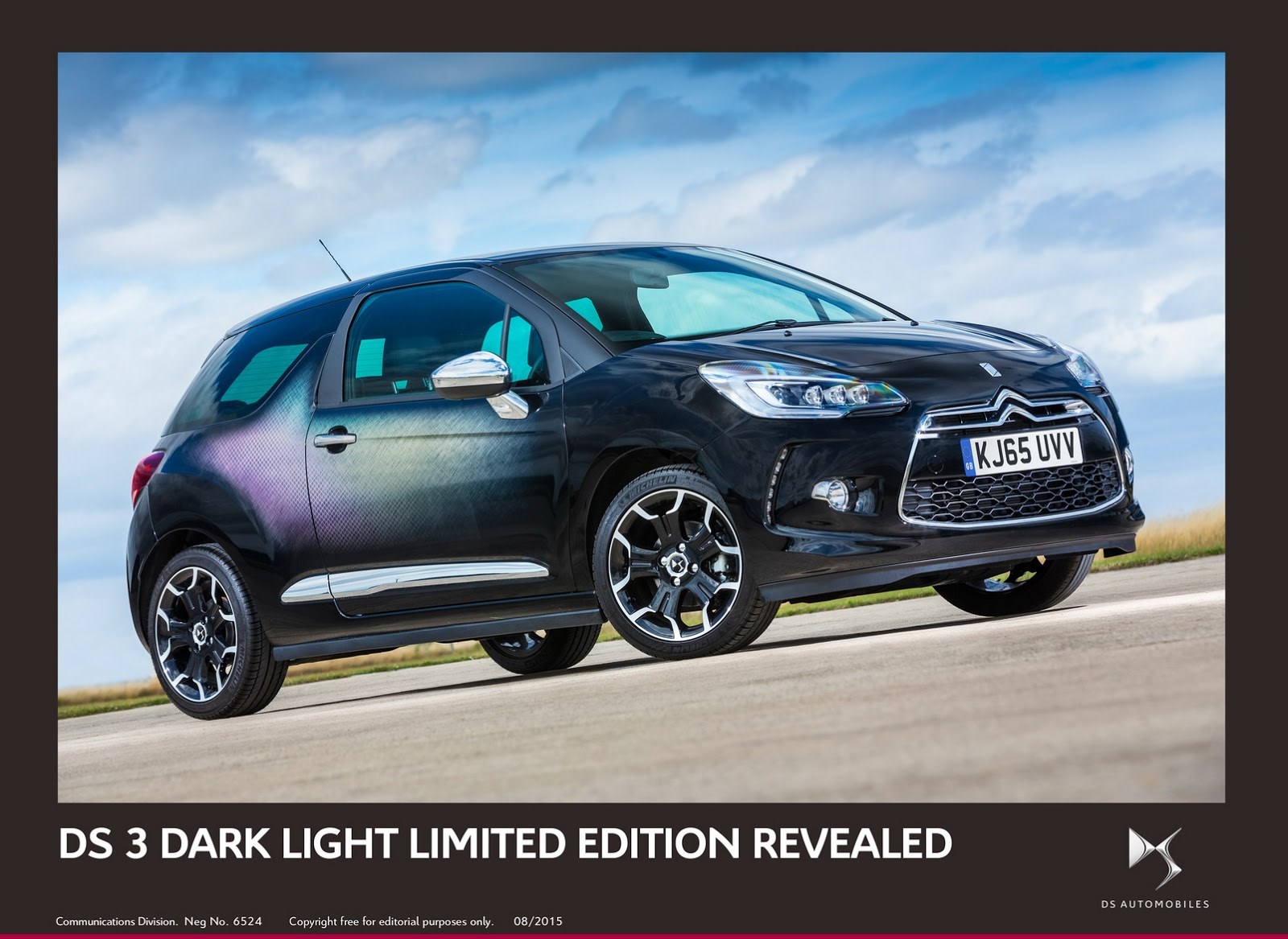new limited edition ds3 dark light inspired by goodwood. Black Bedroom Furniture Sets. Home Design Ideas