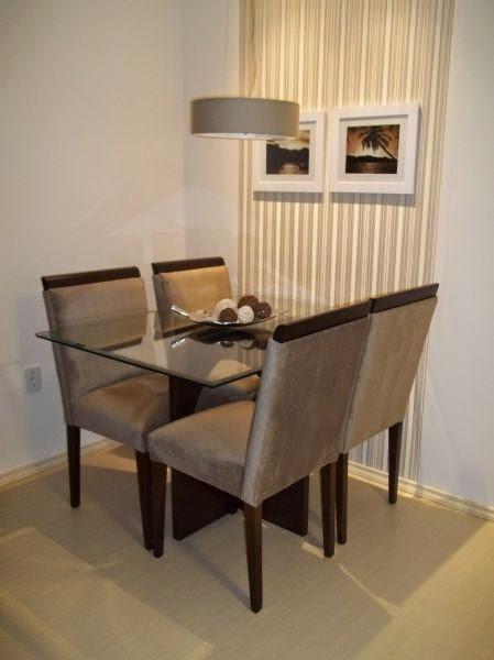20 salas de jantar pequenas jeito de casa blog de for Mesas para apartamentos pequenos