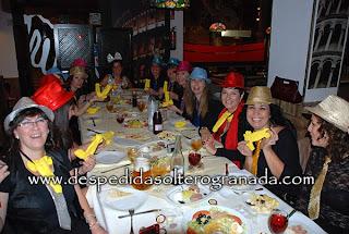 Despedida de soltera en restaurante en Granada 6