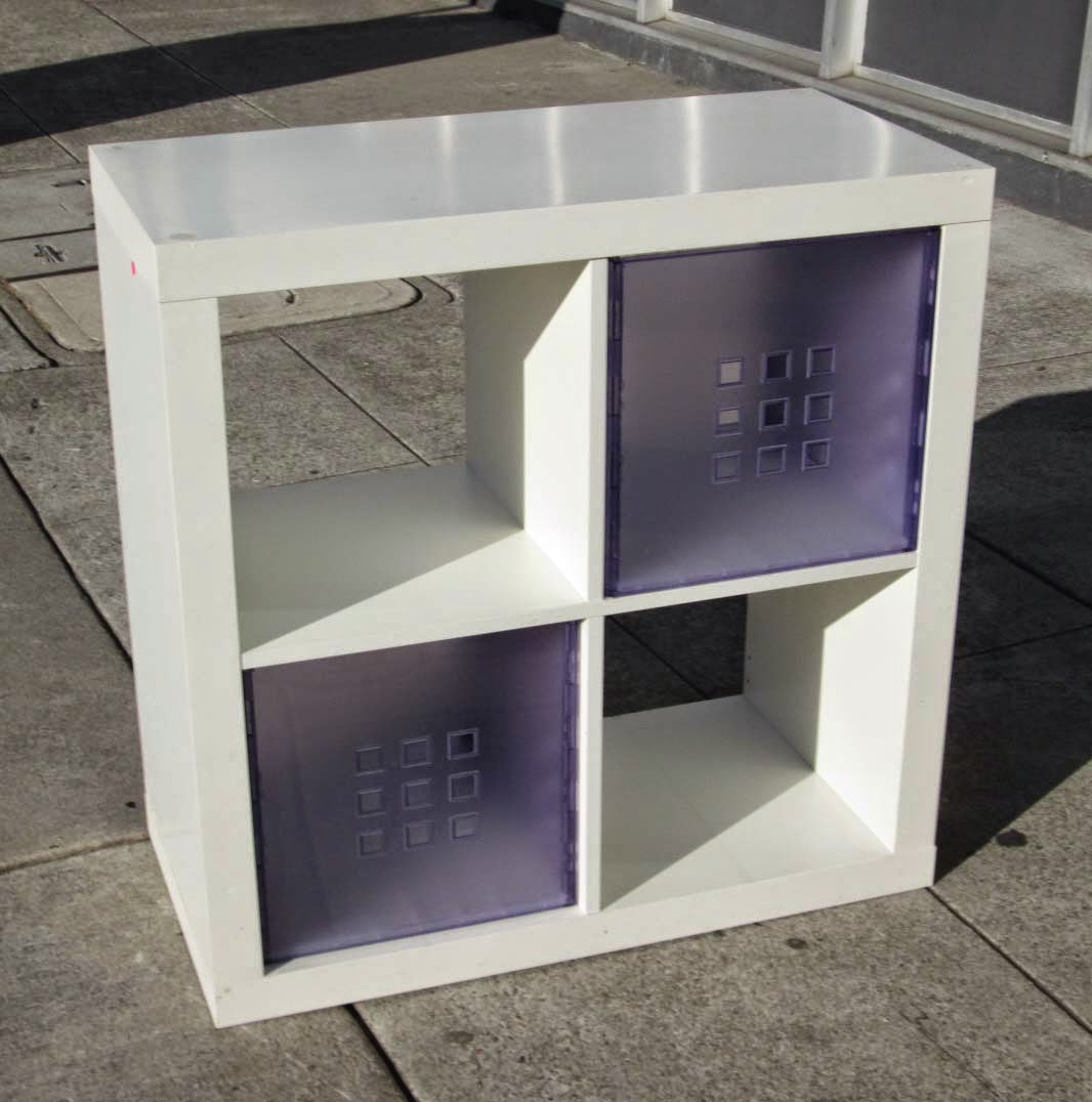 Uhuru furniture collectibles sold ikea expedit cube with 2 storage bin - Etagere cube ikea expedit ...