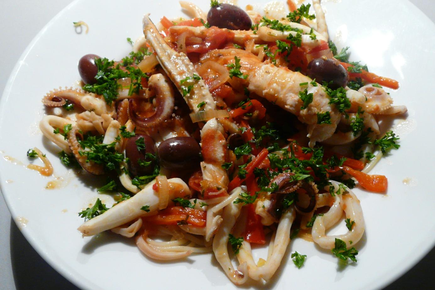 Kulinarische Welten zu Fisch- und Meeresfrucht: Pasta frutti di mare