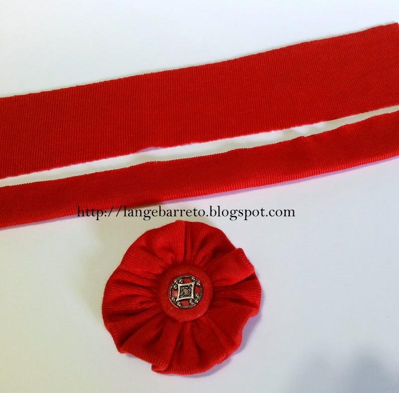 Flor de malha botão vintage