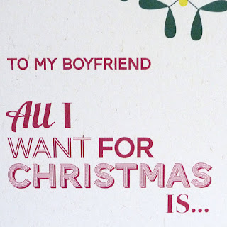 what to write in a christmas card for  boyfriend
