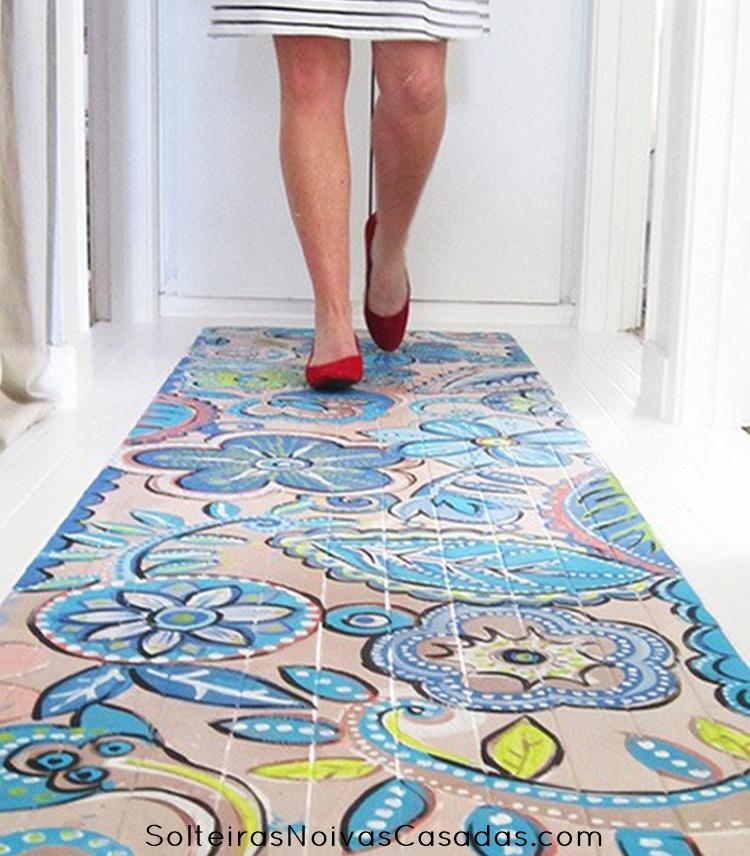 Constru o e decora o pintando o piso solteiras noivas - Pintura para mosaicos piso ...