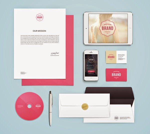 Download Branding Stationery Mockup Gratis - BRANDING / IDENTITY MOCKUP VOL 4