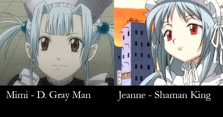 similar characters - Jeanne and Mimi