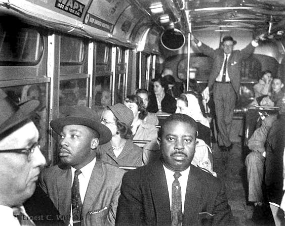 montgomery bus boycott speech King, martin luther, jr montgomery, alabamamartin luther king, jr, and other civil rights leaders of a municipal bus boycott in montgomery, alabama, riding an integrated bus, december 1956© bettmann/corbis in his first speech to the group as its president, king declared: we have no alternative .