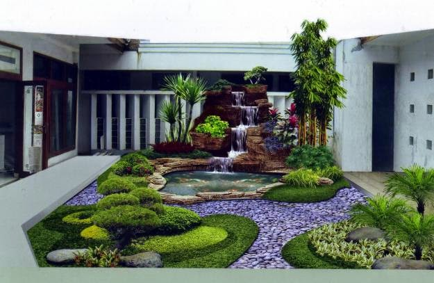 desain taman rumah modern