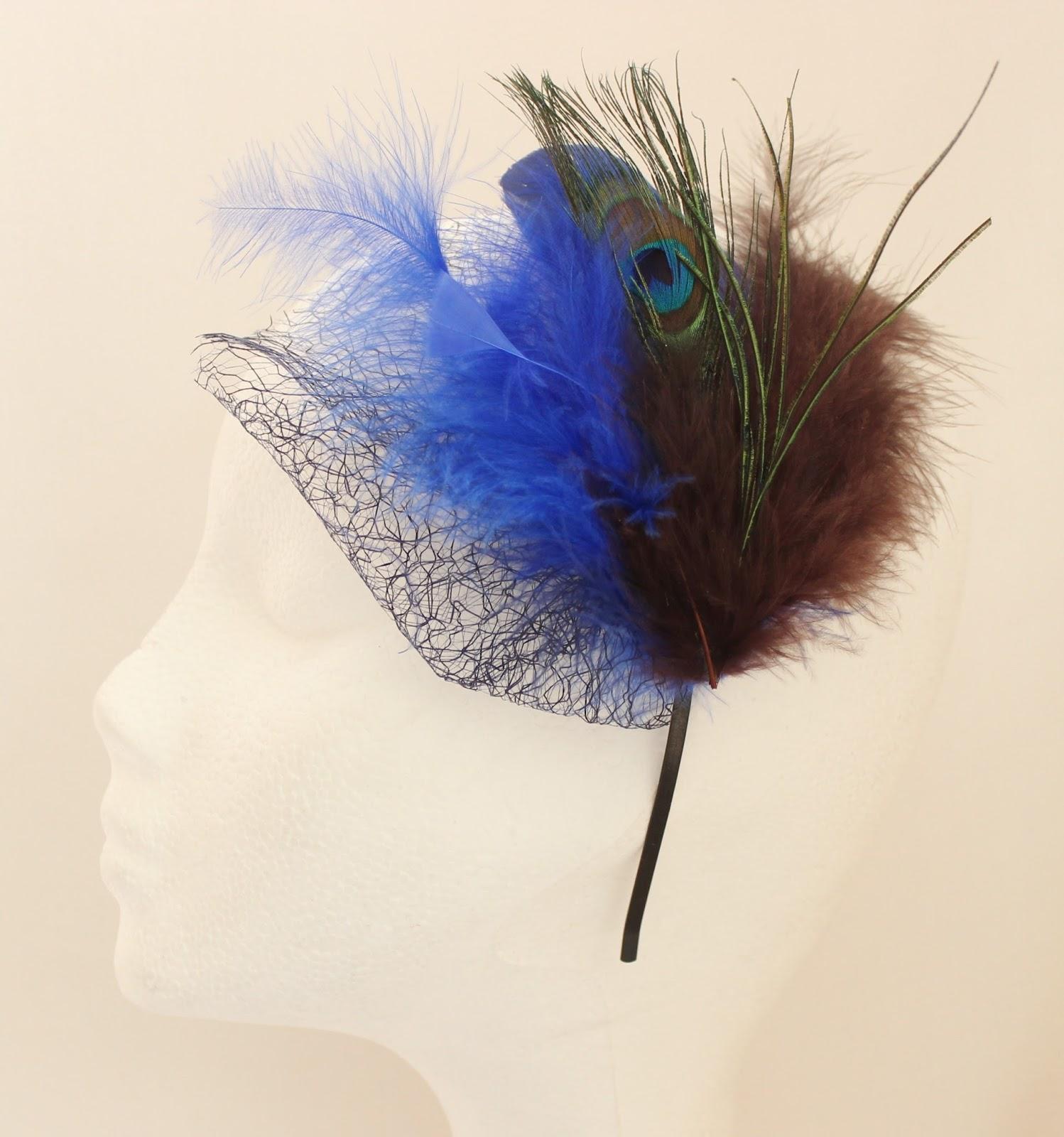 Colección Zinnia - Diadema Tocado Azul Azul