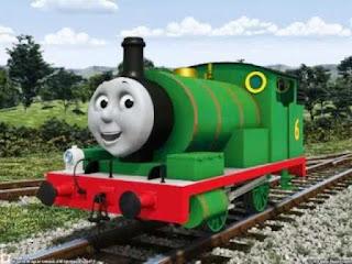 Gambar Kereta Percy dalam Kartun Thomas