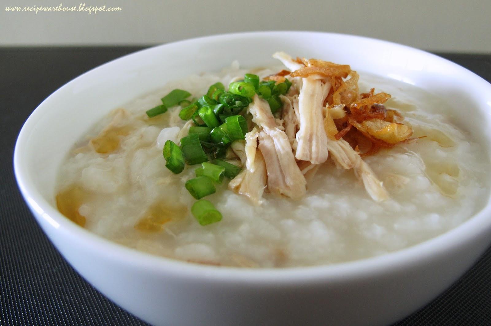 Chinese Chicken Congee Recipe — Dishmaps