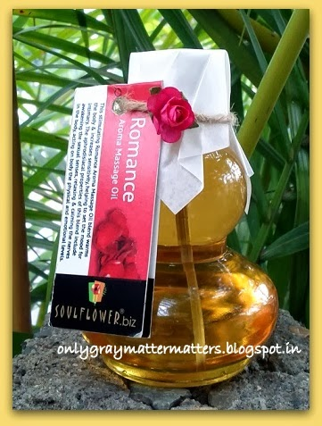 Souflower Romance Aroma Massage Oil spa at home