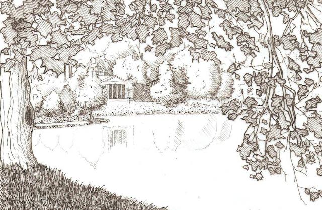fotos de um jardim lindo : fotos de um jardim lindo: feitos com canetas denanquim e algumas fotos lindas do Stourhead