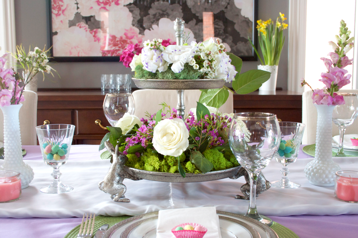 Elliven studio easter tablescape decorating for Tablescape decor