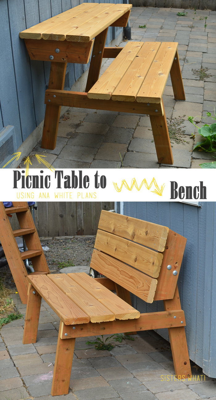 Picnic table that turns into a bench Picnic table that turns into a bench