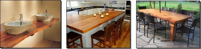 Barras para cocinas islas y bares bokken trabajos en for Fabricacion de bares de madera