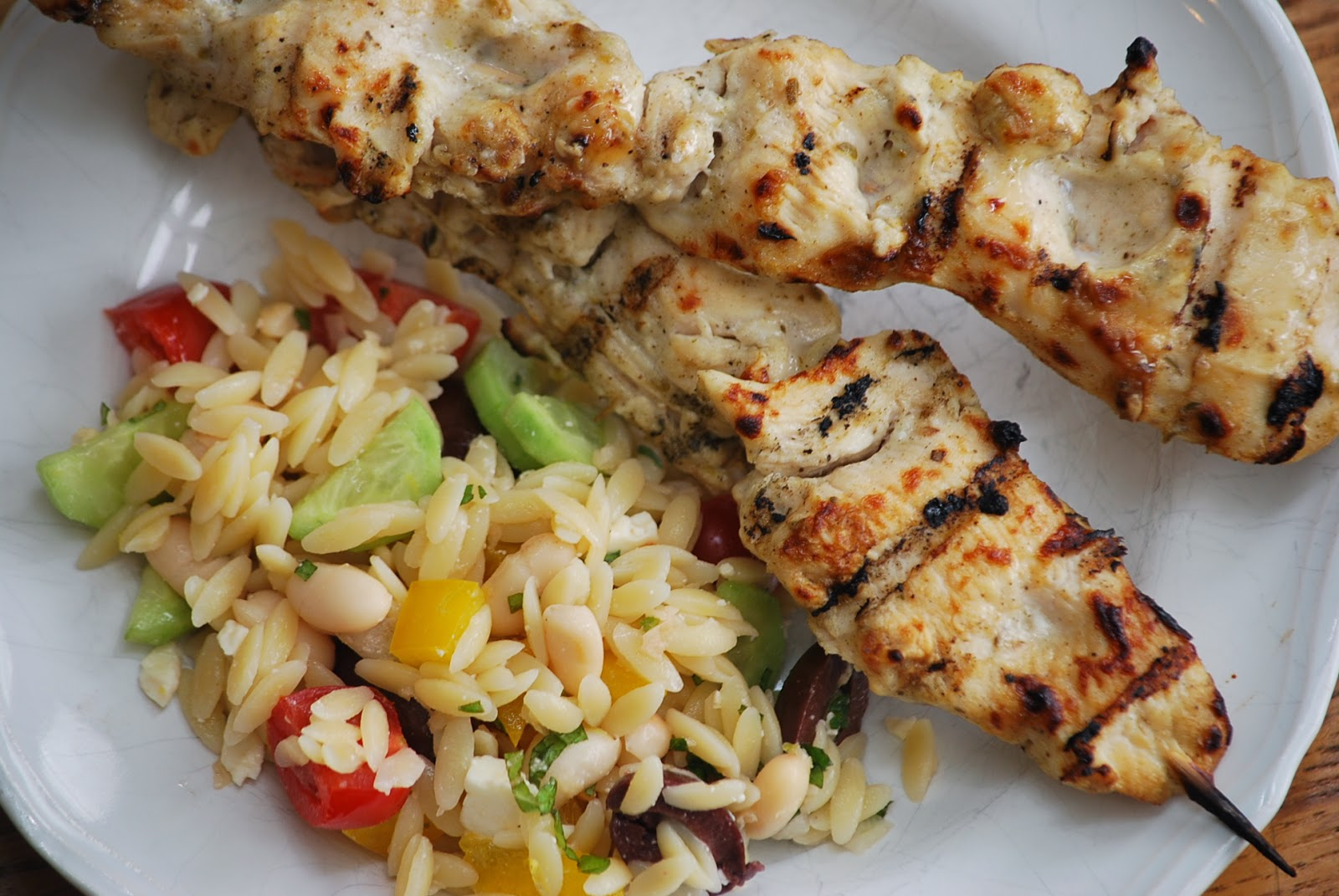 The perfect compliment to the orzo salad - Greek Chicken Skewers from ...