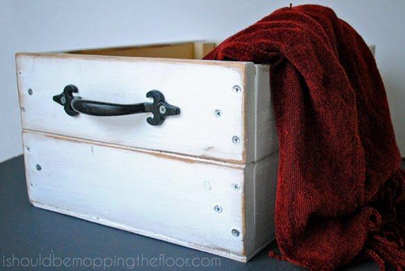 caixote de madeira de reuso