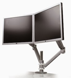 Sit To Stand Dual Monitor Arm