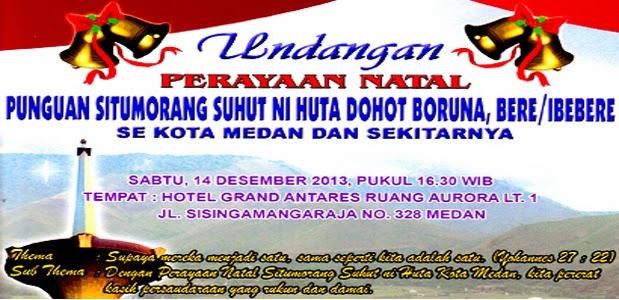 Undangan Natal 14 Desember 2013