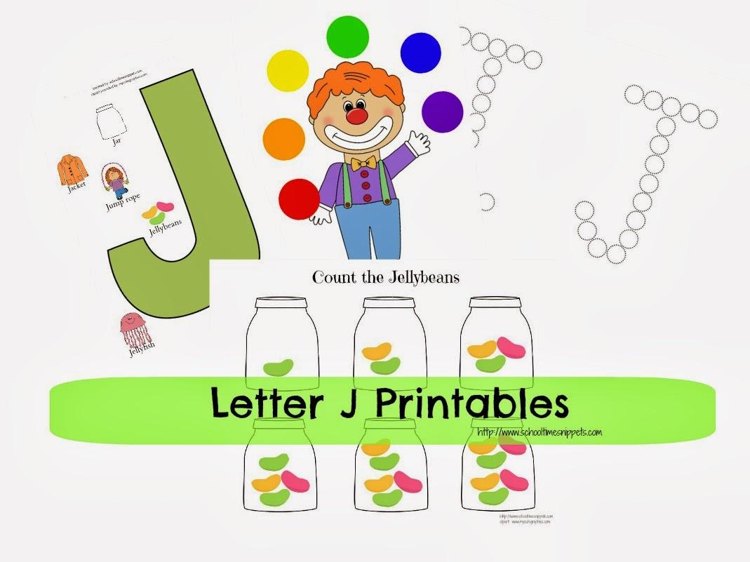 letter j toddler printables