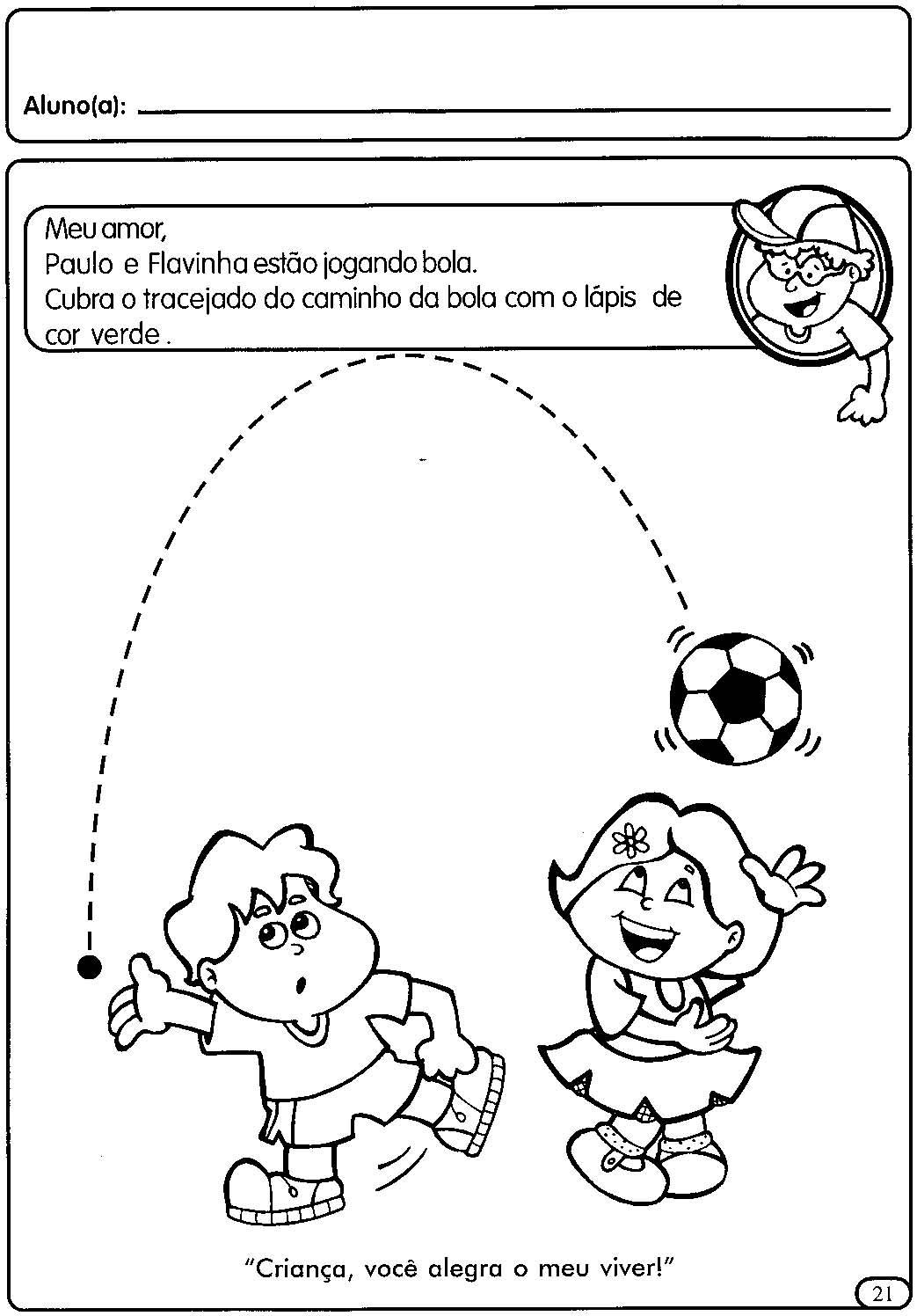 Famosos ATIVIDADES COM TRACEJADO PARA MATERNAL   Cantinho do Educador Infantil YY15
