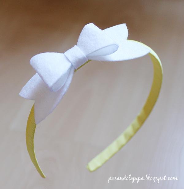 pasandolopipa : diadema lazo / bow