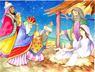 Los reyes magos y el niño Jesus